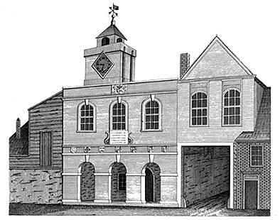 Print from John Thorpe's Custumale Roffense (London, 1788).