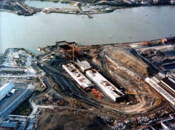 January 1994: Casting Basin on East Bank and Approach Ramp on West Bank