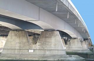 New Bridge showing steel box girders