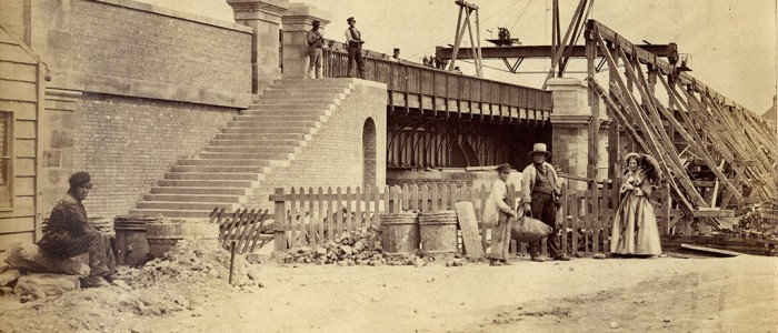 1857 8 RE work to remove Medieval Bridge