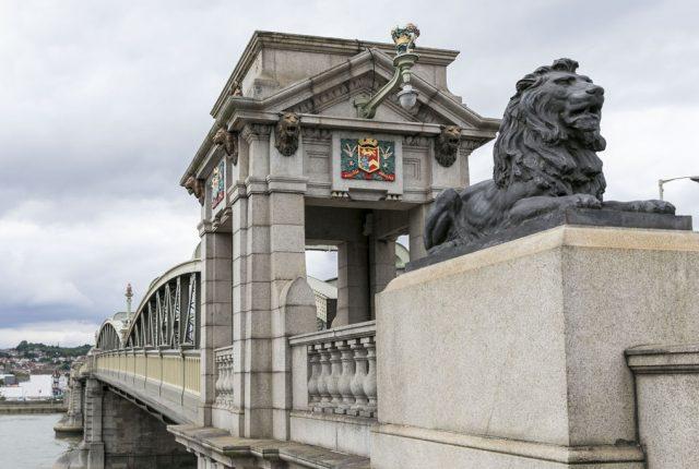 lion on bridge