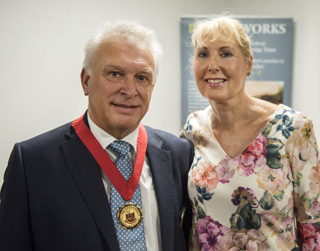 Senior Warden Russell Cooper and Carol Cooper