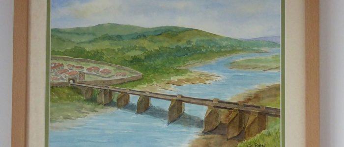 Gill Pestell Bridge 17x13 inches framed
