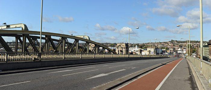 New Bridge cycle path towards Strood no traffic