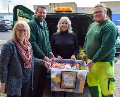 FM Conway with food donations